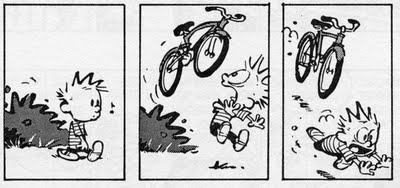 Calvin & bicycle