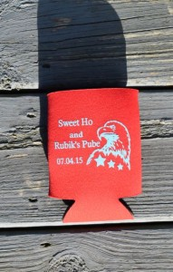 Wedding Koozies Sweet Ho & Rubik's